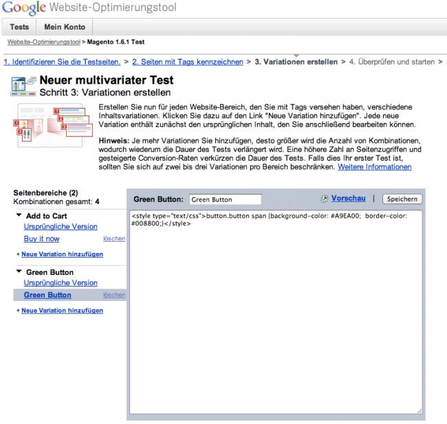 2584d7d00953cd Türchen 22  Magento und Google Website Optimizer