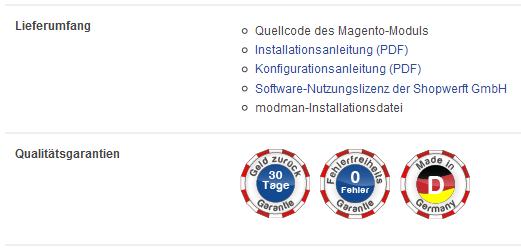 Magento-Module-Garantien