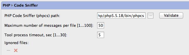 PHPStorm-phpcs